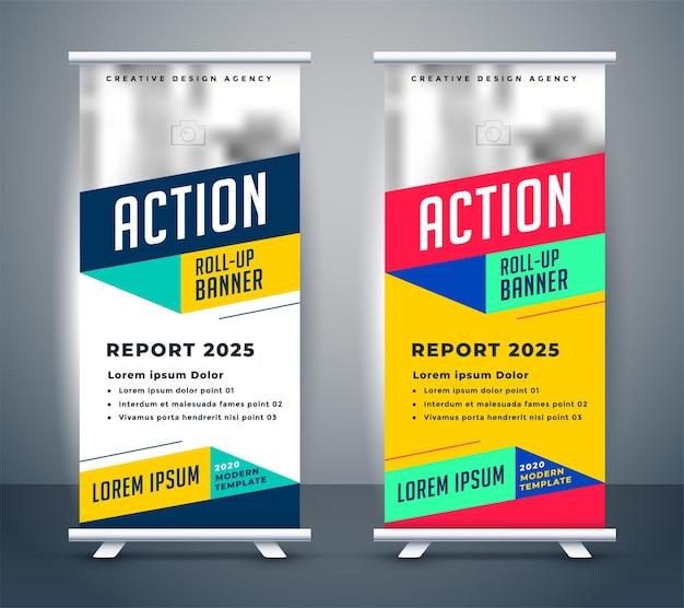 Stijlvolle oprolbare bannermalplaatje voor displaystandaards