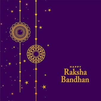 Stijlvolle raksha bandhan festival achtergrond met rakhi