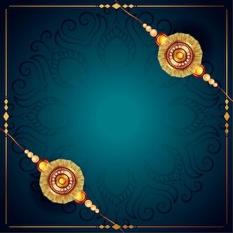 Stijlvolle raksha bandhan rakhi festival ontwerp achtergrond