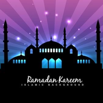 Stijlvolle ramadan kareem islamitische achtergrond