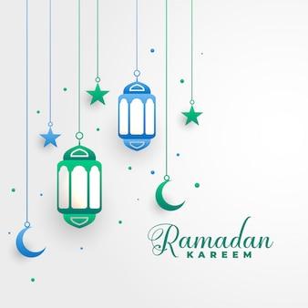 Stijlvolle ramadan kareem islamitische festival achtergrond