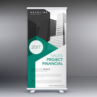 Stijlvolle roll up banner in moderne stijl template