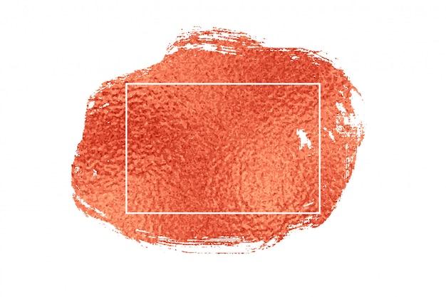Stijlvolle rose goud of koperfolie textuur frame achtergrond