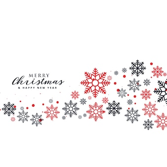 Stijlvolle sneeuwvlokkenachtergrond voor kerstvakantie seizoen