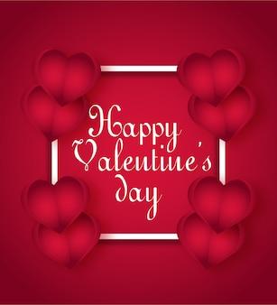 Stijlvolle valentijnsdag premium kaart