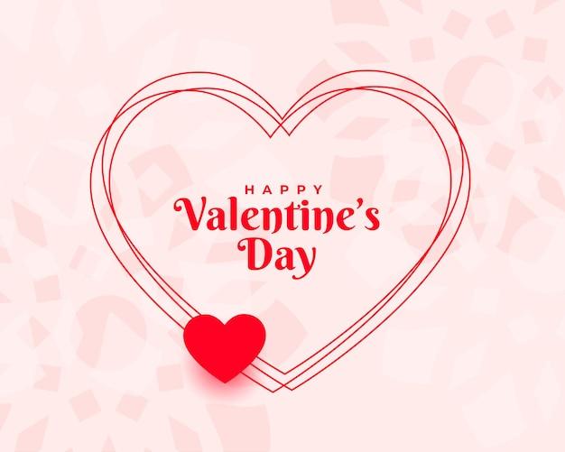 Stijlvolle valentijnsdag wenst kaart achtergrond