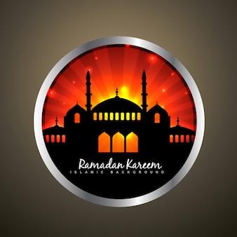 Stijlvolle vector illustratie van ramadan kareem label