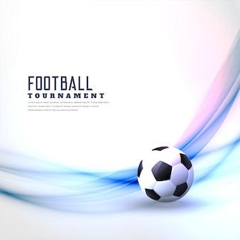 Stijlvolle voetbal achtergrond met abstracte golf