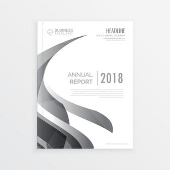 Stijlvolle zakelijke magazine cover pagina template voor het jaarverslag