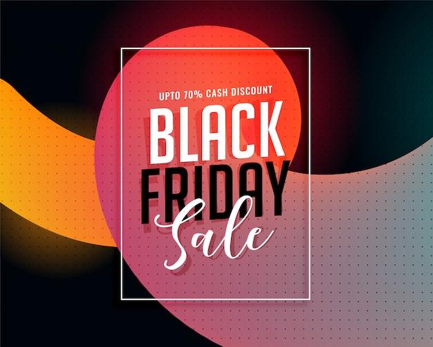 Stijlvolle zwarte vrijdag levendige verkoop banner