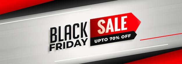 Stijlvolle zwarte vrijdag verkoop en korting sjabloon voor spandoek
