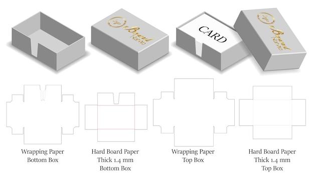 Stijve harde document doos voor kaart 3d model