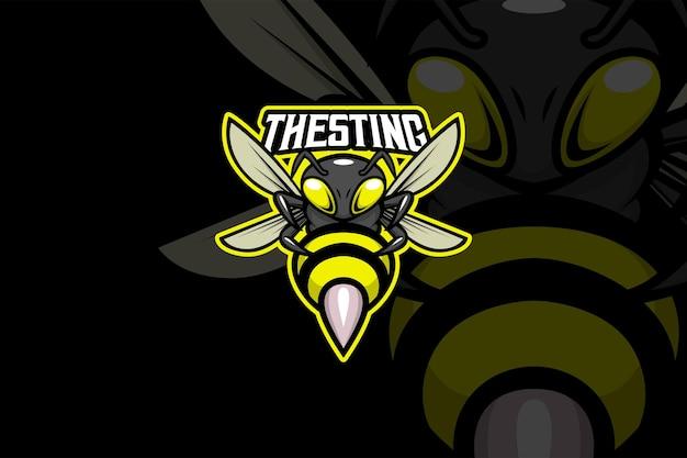 Sting bee - esport-logo sjabloon