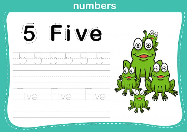 Stip en afdrukbare getallen oefenen