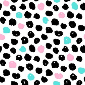 Stippen trendy naadloos patroon. vectorillustratie van 80s stijl tegel hipster achtergrond.