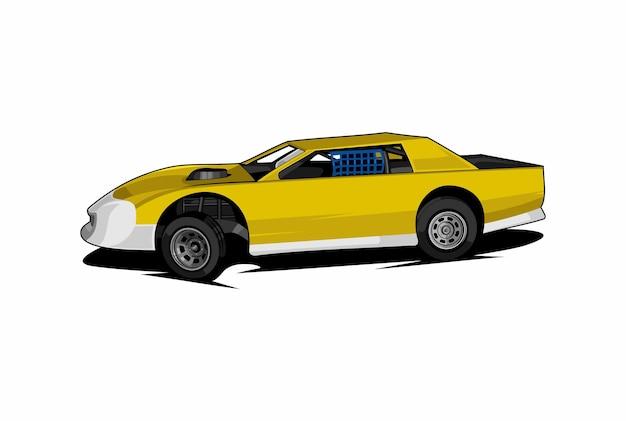 Stock car race illustratie