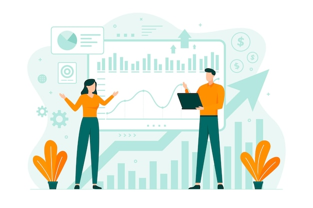 Stock exchange gegevens illustratie