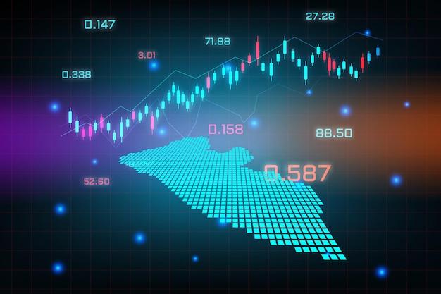 Stock market achtergrond of forex trading zakelijke grafiek grafiek voor financiële investering concept van liberia kaart. bedrijfsidee en technologie-innovatieontwerp.