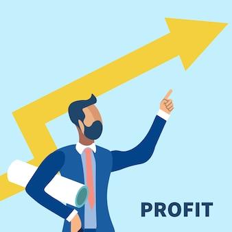 Stock market groei illustratie