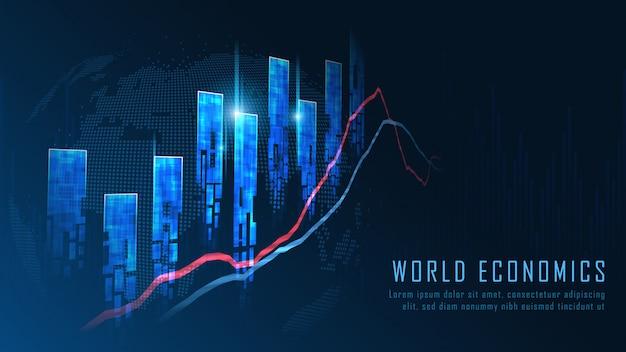 Stock market of forex trading grafiek concept