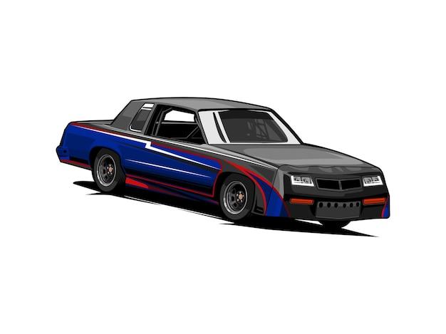 Stockcar racen Premium Vector