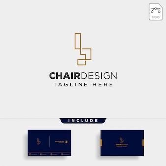 Stoel logo geïsoleerd