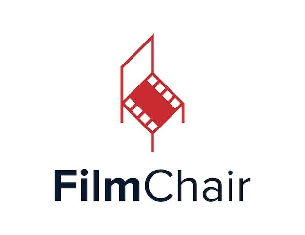 Stoelen met klise film eenvoudig creatief strak geometrisch modern logo-ontwerp