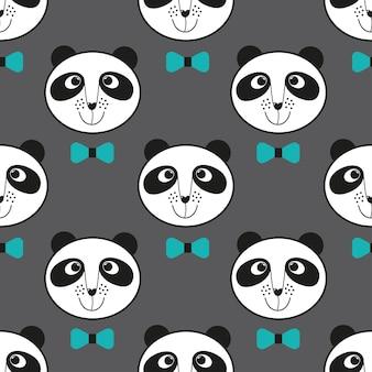 Stof natuur wildlife wild decoratie panda kind patroon zoogdier azië papieren kaart