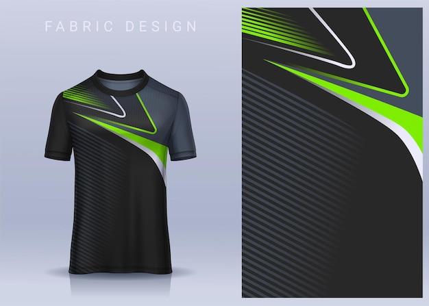 Stof textielontwerp voor sport t-shirt voetbalshirt voor voetbalclub uniform vooraanzicht