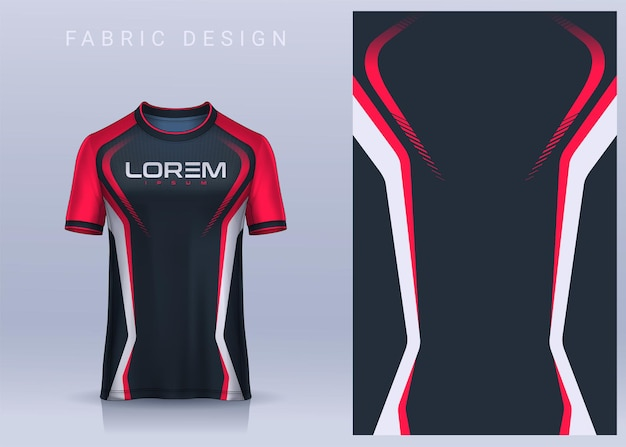Stof textielontwerp voor sport tshirt voetbal jersey mockup voor voetbalclub