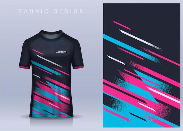 Stof textielontwerp voor sport tshirt voetbal jersey sjabloonvoor voetbalclub uniform vooraanzicht