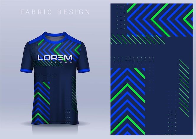Stof textielontwerp voor t-shirt voetbaltrui