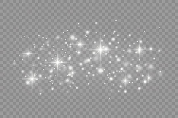 Stofdeeltjes, lichtstralen. gloeiende strepen stof