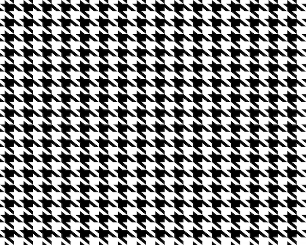 Stoffen houndstooth naadloos patroon.