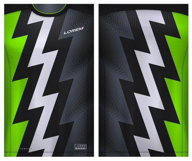 Stoffen textiel voor sport t-shirt, voetbalshirt voor voetbalclub. uniform voor- en achteraanzicht.