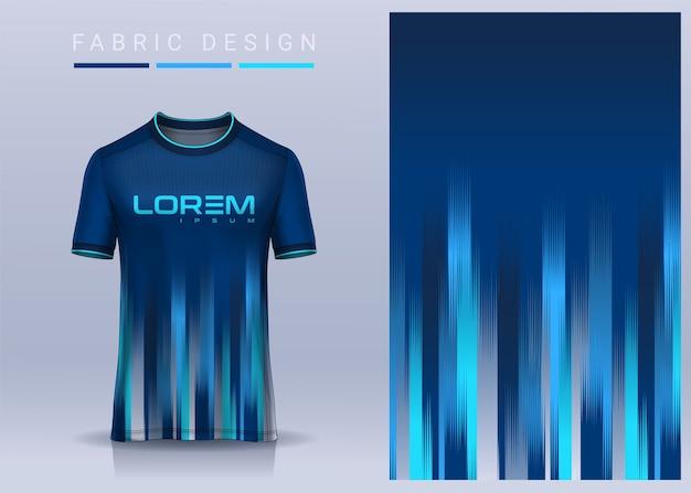 Stoffentextiel voor sport t-shirt voetbal jersey sjabloon voor voetbalclub uniform vooraanzicht