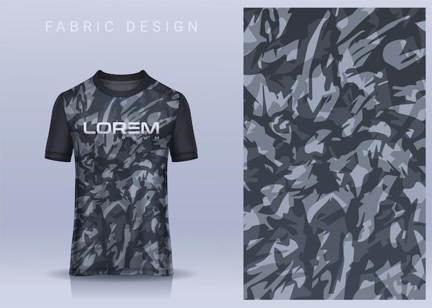 Stoffentextiel voor sport t-shirt voetbalshirt. voetbalclub uniform vooraanzicht