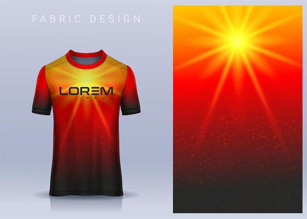 Stoffentextiel voor sportt-shirt uniform vooraanzicht van voetbalshirt