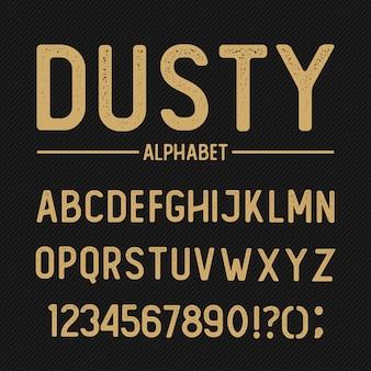 Stoffig alfabet
