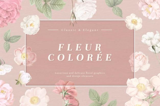Stoffig florals kaartkader