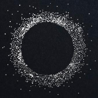 Stoffige zilveren cirkelframe vector