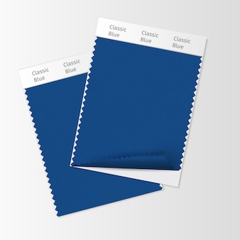 Stofstalen, textielstaalsjabloon voor interieur sfeerbord met classic blue