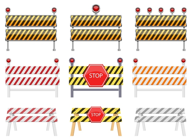 Stop barrière geïsoleerd op een witte achtergrond