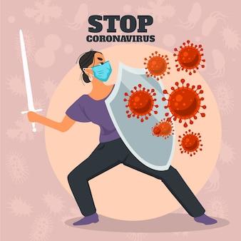 Stop coronavirus concept