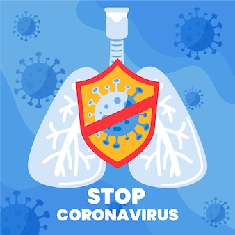 Stop coronavirus covid-19 pandemische bacteriën