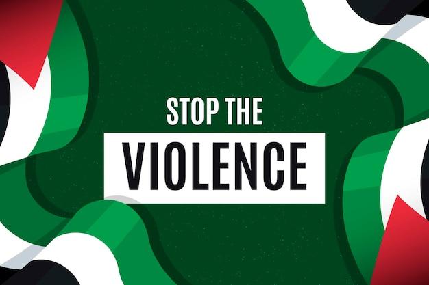 Stop de achtergrond van het geweldbericht