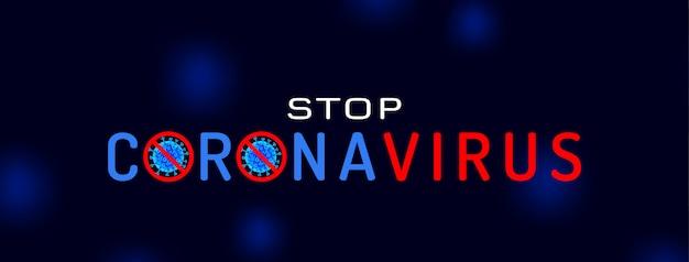 Stop de covid-19 coronavirus-infectiebanner
