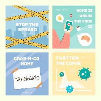Stop de verspreiding van het coronavirus-sjabloon