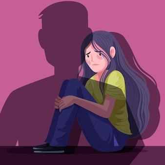 Stop gender geweld concept