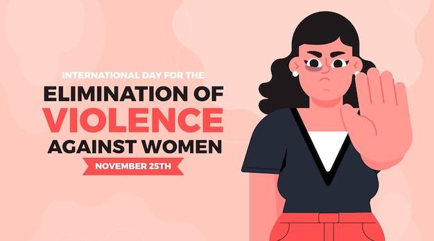 Stop geweld tegen vrouwen boos vrouwelijk karakter